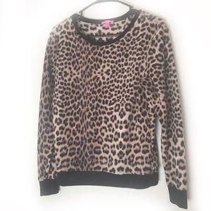 Betsy Johnson cheetah print top